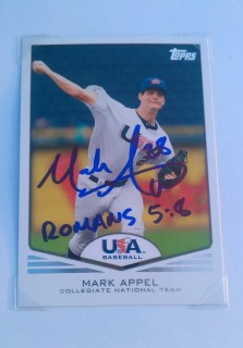 Mark Appel Autographed Topps Baseball Card