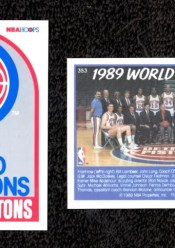 1989-90 NBA Hoops Detroit Pistons Championship Card