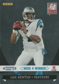 2011 Panini Totally Certified Cam Newton Pepsi Rookie Of The Week 4 INsert Card