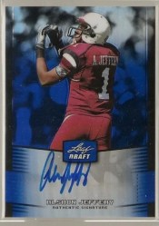 2012 Leaf Metal Draft Alshon Jeffery Autograph
