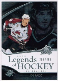 2011-12 Upper Deck SPx Legends of Hockey Joe Sakic Card #105
