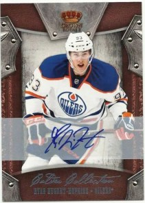 2011-12 Panini Crown Royale Calder Collection Ryan Nugent-Hopkins Autograph Card