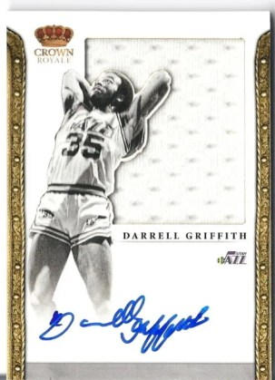 2011-12 Panini Preferred Silhouettes Darrell Griffith Autograph Jersey Card