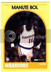 1989-90 Hoops Manute Bol Yellow Border Sears