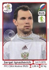 2012 Panini Euro Soccer Russia Sergei Ignashevich