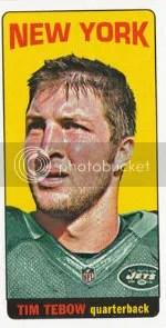 2012 Topps Football Tim Tebow 1965 Topps Insert