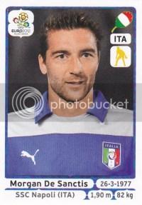 2012 Panini Euro Soccer Stickers Italy Sanctis