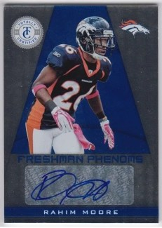 2011 Panini Totally Certified Rahim Moore Freshman Phenoms Autograph RC Card