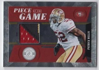 2011 Panini Totally Certified Piece Of the Game Patrick Willis Prime Jersey Card