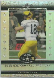 2012 Leaf Metal Draft Andrew Luck Army Card