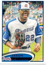 2012 Topps Series 2 Jason Heyward Variation