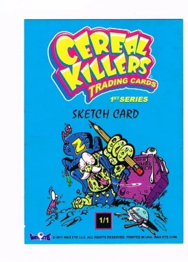 Cereal Killers Series 1 Joe Simko Original Sketch Art Card Back