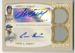 2012 Topps Gypsy Queen Dual Auto Relic Garvey/Either