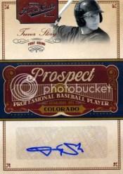 2011 Panini Prime Cuts Trevor Story Prospect Auto