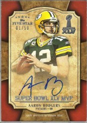 2011 Topps 5 Five Star Aaron Rodgers Super Bowl MVP Autograph