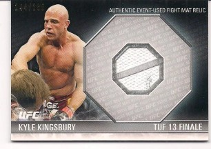 2012 Topps UFC Knockout Fight Mat Relic Kyle Kingsbury Card