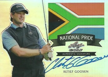 2012 Leaf Metal Golf National Pride Retief Goosen Autograph Card