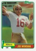 2012 Topps Football Joe Montana Reprint