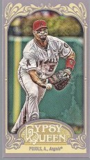 2012 Topps Gypsy Queen Albert Pujols Mini Sp Card