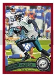 2011 Topps Factory Set Red Parallel DeSean Jackson Card #/77