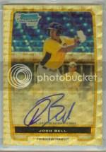 2012 Bowman Baseball Josh Bell Superfractor Auto 1/1
