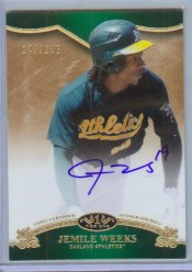 2012 Topps Tier One 1 Memile Weeks Auto