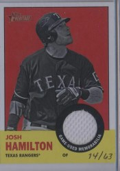 2012 Topps Heritage Josh Hamilton Image Swap Variation