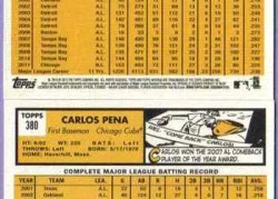 2012 Topps Heritage Carlos Pena Base Card Back