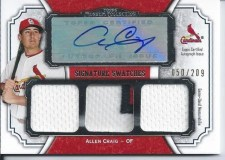 2012 Topps Museum Collection Allen Craig Triple Jersey Auto
