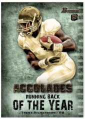 2012 Bowman Football Accolades Trent Richardson