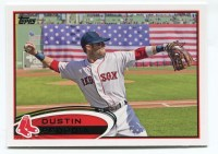 2012 Topps Series 2 Dustin Pedroia Variation