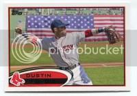 2012 Topps Series 2 Dustin Pedroia Variation