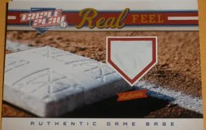 2012 Panini Triple Play Real Feel base Card