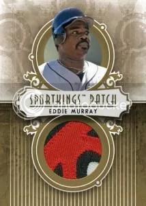 2012 Sportkings Series E Patch Card #P-08 Eddie Murray