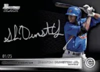 2012 Bowman Draft Picks Shawn Dunston Jr Black Auto