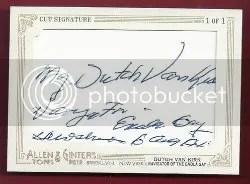 2012 Topps Allen Ginter Dutch Van Kirk Autograph