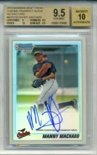 2010 Bowman Chrome Manny Machado Draft BGS 9.5