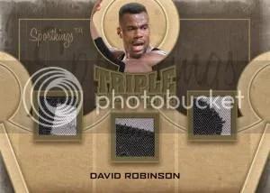 2012 Sportkings Series E Triple Patch Card #TP-11 David Robinson