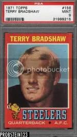 1971 Topps Terry Bradshaw Rookie