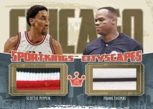 2012 Sportkings Series E Cityscapes Dual Jersey Card #CS-10 Scottie Pippen - Frank Thomas