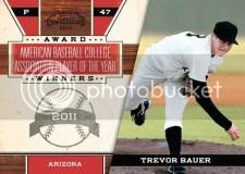 2011 Panini Contenders Trevor Bauer Award Winner