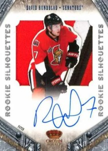 2011-12 Panini Crown Royale Silhouettes David Runblad Autograph RC Card
