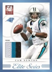 2012 Donruss Elite Cam Newton Prime Jersey Card
