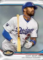 2012 Topps Finest Matt Kemp Base Card