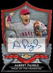 2012 Topps Finest Albert Pujols Autograph Card