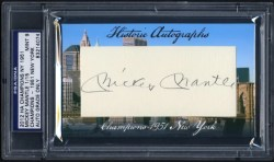 2012 Historic Autographs Mickey Mantle Cut Signature