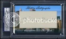 2012 Historic Autographs Mickey Mantle Cut Signature