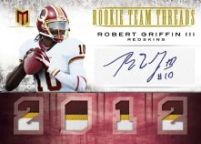 2012 Panini Momentum Robert Griffin III Team Threads