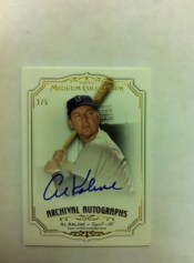 2012 Topps Museum Collection Al Kaline Autograph