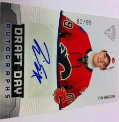 2011-12 Panini Titanium Tim Erixon Draft Day Autograph Card #/99